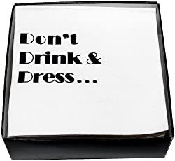 Vino s Party Beverage Napkins, Drink and Dress, Box of 50