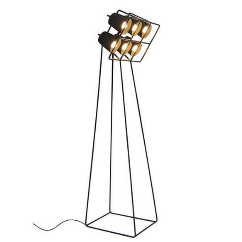 Multilamp Stehlampe mit 6 Lampenschirme Schwarz