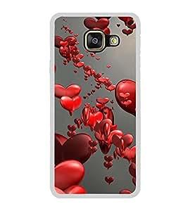 Love Hearts 2D Hard Polycarbonate Designer Back Case Cover for Samsung Galaxy A7 (2016) :: Samsung Galaxy A7 2016 Duos :: Samsung Galaxy A7 2016 A710F A710M A710FD A7100 A710Y :: Samsung Galaxy A7 A710 2016 Edition
