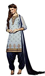 Sanchey Women's Georgette Unstitched Dress Material (754615_Light Blue_Free Size)