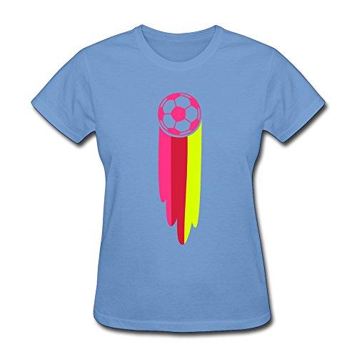 Womens Fussball Soccer Ball Germany Online T-Shirt Size Xxl Color Sky