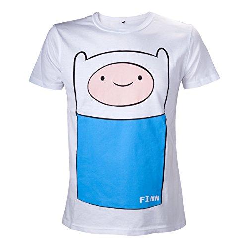 Adventure Time Finn da uomo a maniche corte maglietta bianco Small