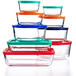 18-Piece Pyrex Simply Store Set with Colored Lids