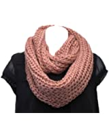 Super Soft Acrylic/Wool Chunky Knitted Circle Loop Scarf-Country Grape