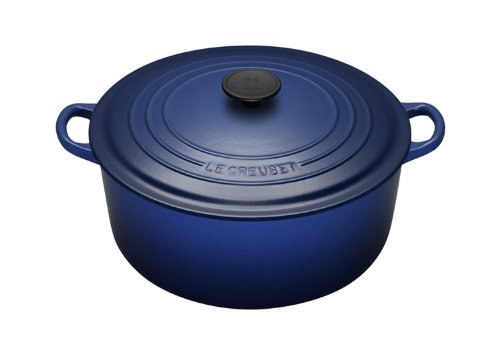 Le Creuset Cast Iron Round Casserole in Graded Blue