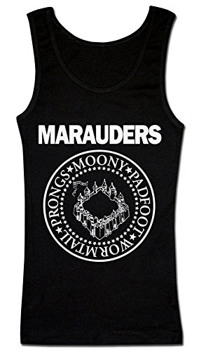 The Marauders: Moony, Padfoot, Wormtail And Prongs Circle Emblem Women's Tank Top Shirt Large