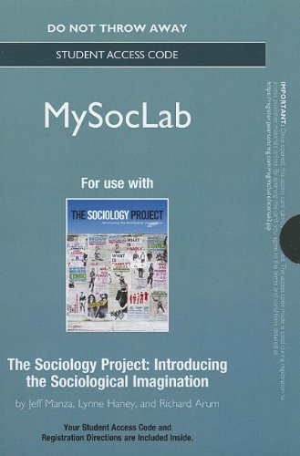 NEW MySocLab -- Standalone Access Card -- for The Sociology...