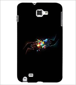 PrintDhaba Digital Hands D-2015 Back Case Cover for SAMSUNG GALAXY NOTE 1 (Multi-Coloured)