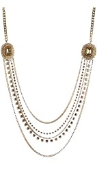 "Jessica Simpson ""Gia Gold"" Layered Necklace"