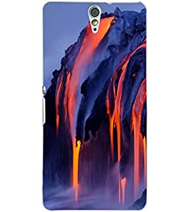 SONY XPERIA C5 LAVA Back Cover by PRINTSWAG