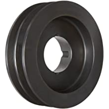 Martin Conventional Taper Bushed Sheave, A/B Belt Section, 2 Grooves, Class 30 Gray Cast Iron