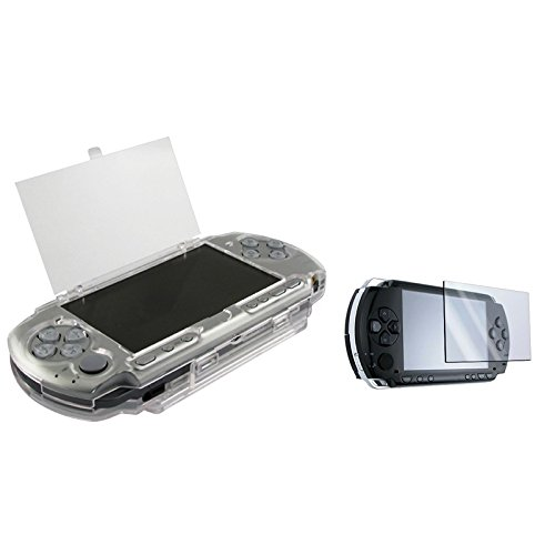 Eforcity® Clip On Clear Crystal Hard Case With Lcd Screen Protector Compatible With Sony Psp 2000 3000
