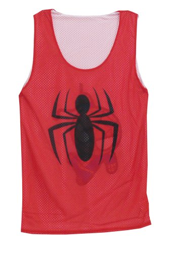 Spiderman Reversible Mesh Tank Top Mighty Fine Marvel Comics Adult T-Shirt Tee