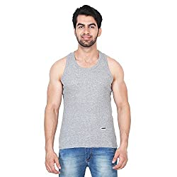 Trenders Sleevless Grey Color T Shirt in Rib Fabric