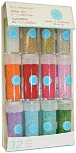 Martha Stewart Crafts Glass Microbead Set, 12-Pack