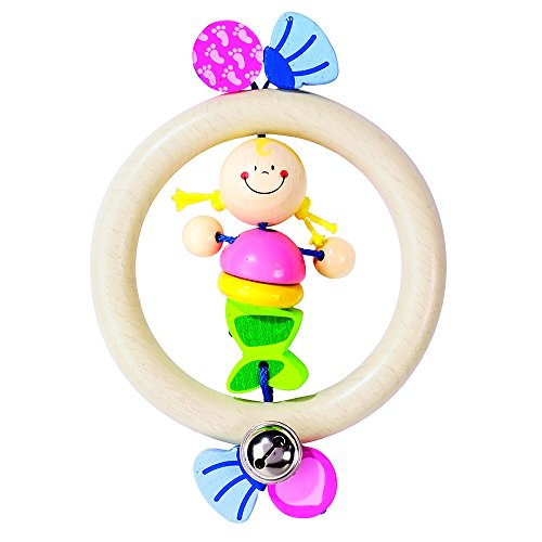 Heimess Mermaid Touch Ring Rattle Baby Toy