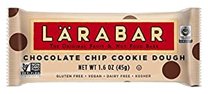 LARABAR Fruit & Nut Food Bar, Chocolate Chip Cookie Dough, Gluten Free 1.6oz Bars (Pack of 5)