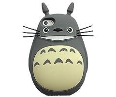 iPhone6 トトロ iPhone6 4.7対応 ケース シリコンケース となりのトトロ ケース iPhone6 4.7対応 ケース カバー ケース  (iphone6 4.7, グレー)