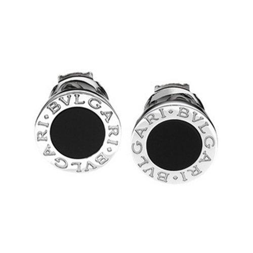 Bulgari Orecchini earring 18kt white gold with black onyx new OR085817