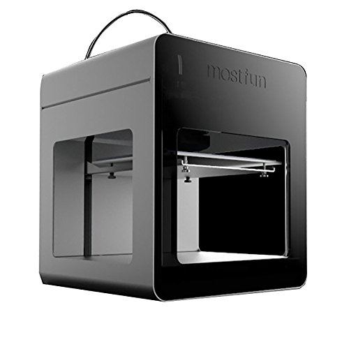 WER Mostfun 3d Printer, Metal Frame Structure, Acrylic Covers, Optimized Build Platform,h-type Single Drive , Works with TPU and PLA