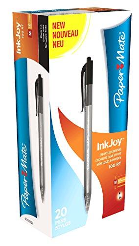 Papermate Inkjoy 100 Scatto S0957030 Penna a Sfera, Confezione da 20, Nero
