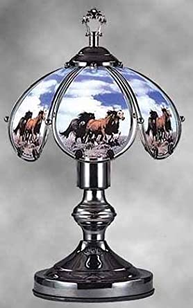 Horses On The Range 14 Quot Touch Lamp Et 14ho6 Table Lamps