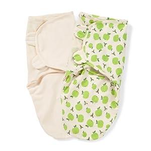 Summer Infant SwaddleMe Organic  Adjustable Infant Wrap, 7-14 Lbs, Small-Medium, Apple and Ivory