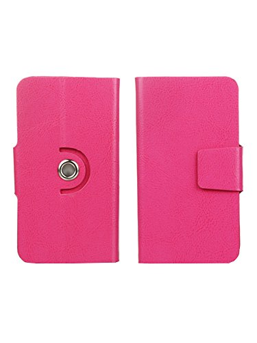 Jo Jo Elegant Series PU Leather 360 Rotating Phone -Style Skin Protective Flip Case Cover For HTC Desire 516c Exotic Pink