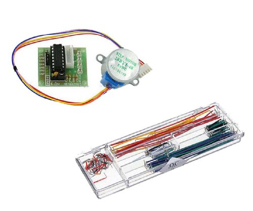 5V Stepper Motor 28Byj-48 With Drive Test Module Board Uln2003 5 Line 4 Phase+140Pcs U Shape Solderless Breadboard Jumper Cable Wire Kit For Arduino Shield