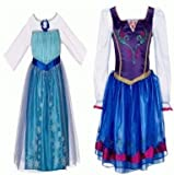 Disney Frozen Elsa and Anna Dress Combo Pack (Size 4-6x)