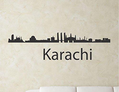 Karachi Pakistan City Skyline Vinyl Wall Art Decal Sticker front-419380