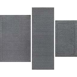 Mainstays Dylan Nylon Accent Rugs, Set of 3, Grey Flannel