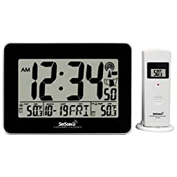 SkyScan Atomic Digital Clock with Indoor and Outdoor Temperature 88909