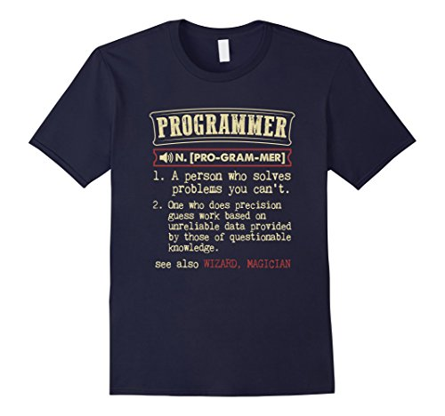Men's Programmer Funny Dictionary Definition T-Shirt Large Navy