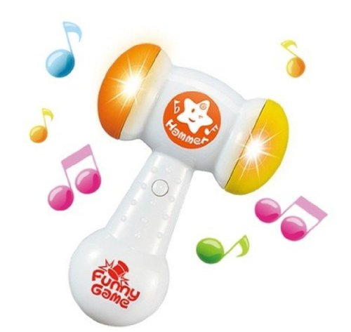 Big Dragonfly Children'S Fun Electric Music Sound Play Hammer Educational Striking Toy For Baby & Toddler Improve Baby'S Operation Ability Orange