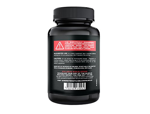 SHEER-NO-1-Best-Nitric-Oxide-Supplement--Premium-Nitric-Oxide-Booster-from-Sheer-Strength-Labs--Build-Muscle-and-Strength-Or-Its-Free-30-Day-Thrilled-Customer-100-Guarantee