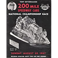 1967 Tony Bettenhausen 200 Mile Speedway Cars USAC Souvenir Program