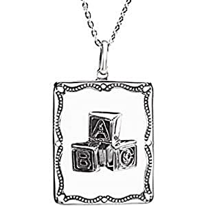 IceCarats Designer Jewelry Sterling Silver A Baby Is A Gift Blessed Affirmation Pendant W/ Box