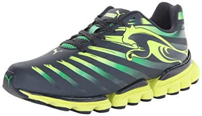 PUMA Men's Geotech Walleri V2 Dip Dye Running Shoe,Ombre Blue/Island Green/Fluorescent Yellow,6.5 M US