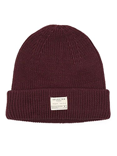 SELECTED 16031856 BORDEAUX CAPPELLO Uomo BORDEAUX UNI