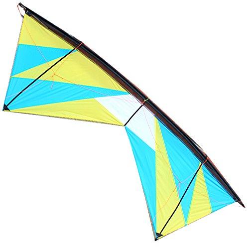 Hengda Kite Mountain Peak Quad-line 7.9 Feet/2.4 Meter Stunt Kite with Dyneema Line (Quad Kite Line compare prices)