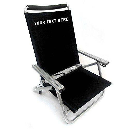 Imprinted Low Boy 3 Position Reclining Aluminum Beach Chair