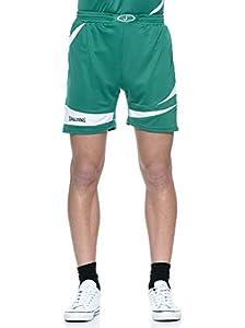 Spalding Herren Logo 2.0 Shorts, Grün/Weiß, XXS, 300522004