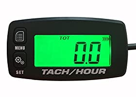 Tach Hour Meter tachometer RPM backlit display motorcycle atv dirtbike buggy outboard mototcycle boat works with all gas powered engines
