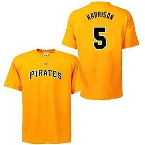Josh Harrison Pittsburgh Pirates Gold Player T-Shirt by Majestic by Majestic