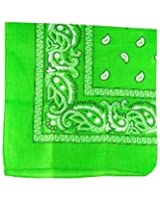Lime Green Paisley Cotton Bandanna