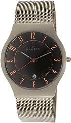 Skagen Men's 233XLTTMO Titanium Grey Dial Watch
