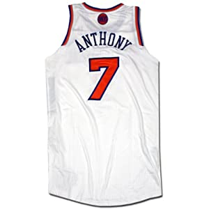 Carmelo Anthony Jersey - NY Knicks 2012-2013 Season Game Used White and Orange Jersey... by Steiner Sports