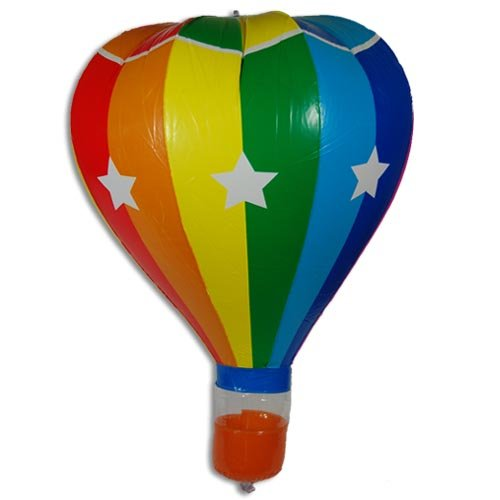 Multi Colored Hot Air Balloon Inflatable w/ Stars or Stripes [20in]