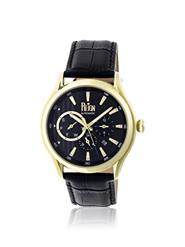 Reign Automatic Men's Gustaf Black Leather Watch